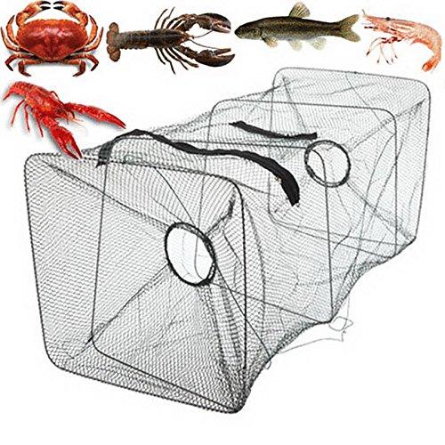 YUIOP Foldable Fishing Net Trap Bait Trap Dip Drift Crab Fish Net Cage