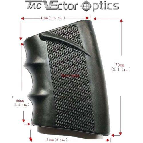Textured Tactical Slip on Rubber Grip Glove Sleeve AR-15 SCOT-11 by Tac Vector Optics