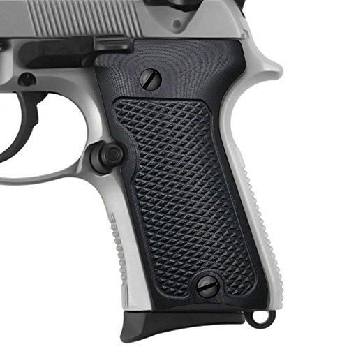 Beretta 9296 Compact Grips Checkered Texture Black G10 Cool Hand Brand B92C-J6-1