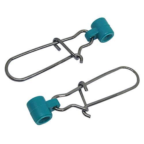 Unclesport 102550100 PCS Fishing Line Sinker Slides Duo Lock Snaps High Strength Stainless Steel Sinker Slider Swivel Snap Kit Fishing Tackle