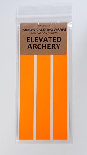 Arrow Cresting Wraps for Carbon Shafts NEON COLORS - Pack of 12 Neon Orange
