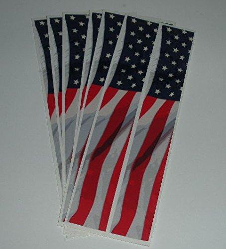 Bullseye Carbon Arrows Wraps American Flag Pattern 1x7 Pkg12