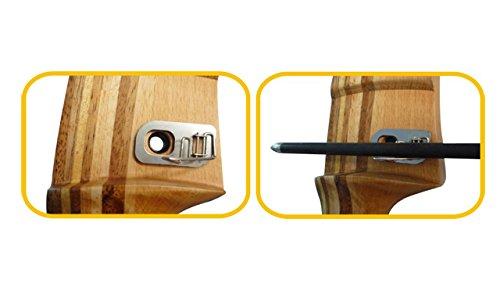 Bcslinek Archery Archery Rest Stainless-Steel Recurve Bow Arrow Rest