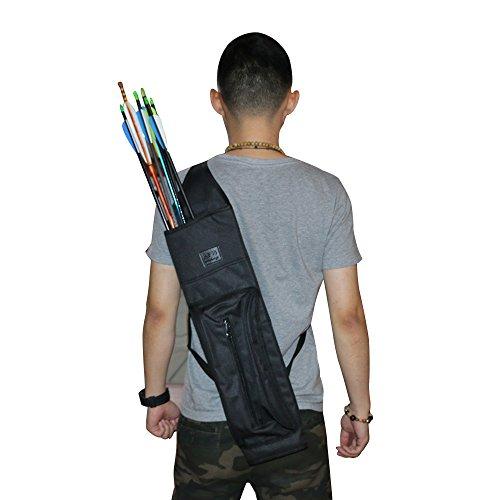 Huntingdoor Archery Arrows Quiver Hunting Target Back Canvas Quiver Black Camo Available Black