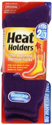 Heat Holders Thermal Socks Womens Original US Shoe Size 5-9 Purple