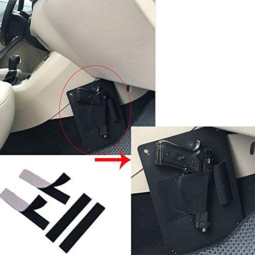Concealed Vehicle Car Pistol Holster Carry SeatDoorCloset Handgun Holder Ambidextrous Torch Storage