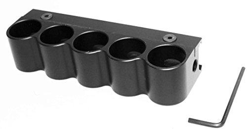 Universal 5 Round 12GA Tactical Shot Gun Shotgun Shell HolderWeaver Mount shotgun accessories