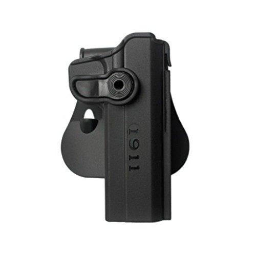 Lite Concealment Pistol Hand Gun Polymer Retention Roto Holster for 1911 Variants wwo Rails 5 Black IMI RSR Defence GunPistol Holster