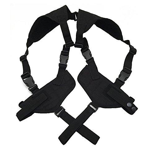 Out Topper Tactical Vertical Shoulder HolsterAdjustable Gun Belts Concealed Under Arm Double Pistol CarrierFit for Glock Smith Wesson Ruger All Others Black