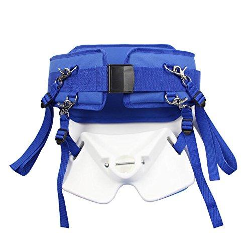 Pellor Fishing Rod Pole Holder Bracket Adjustable Fighting Belly Belt Set For Boat Fishing Sea Fishing Blue