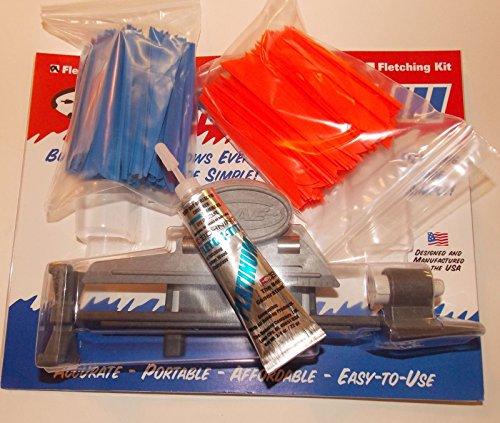 AAE Fletching Jig Kit w2100 pkg 4 inch Vanes Platinum Glue