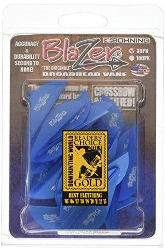 Bohning Blazer Vane Pack of 36 Satin Blue