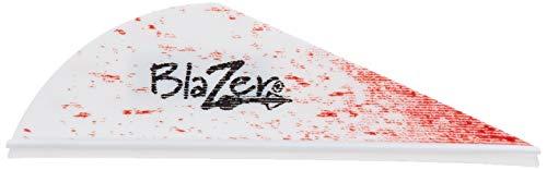 Bohning True Color 2 Blazer Vanes White Blood Splatter Blazer Vane 100pk