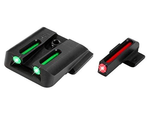 TRUGLO TG131MP1 Fiber-Optic PRO Competition High Visibility Handgun Sights Smith Wesson M&P EZ 380 Set Black