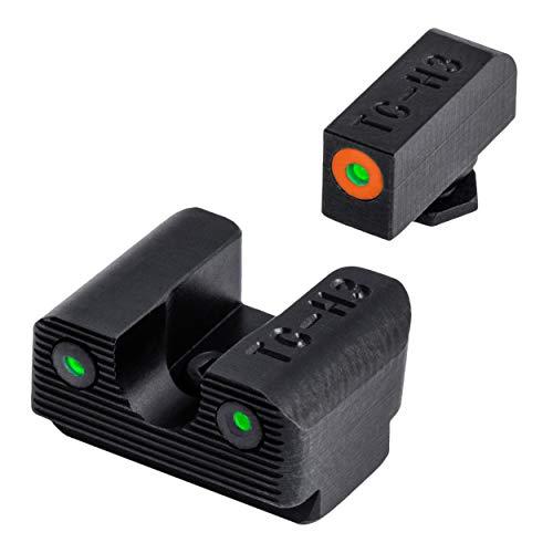 TRUGLO Tritium Pro Glow-in-The-Dark Handgun Night Sights for Glock Pistols Glock 42 and 43 Orange Rear