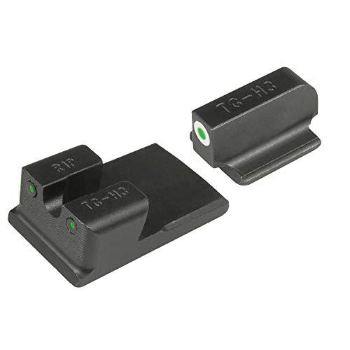 TRUGLO Tritium Pro Glow-in-The-Dark Handgun Night Sights for Ruger Pistols Ruger SR9 SR9C SR40 SR40C SR45