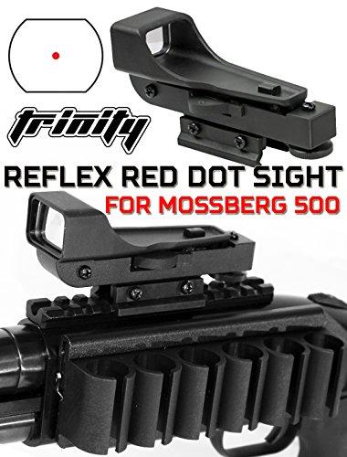 Trinity Mossberg 500 Shotgun Tactical Red Dot Sight Combo Kit Aluminum Black