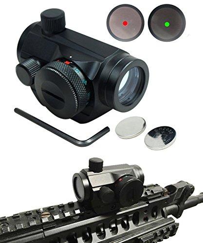 LedsniperTactical Weatherproof Adjustable 5 MOA Green Red Dot Sight Scope for 20mm Rails