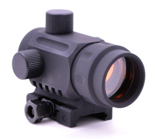 PHANTOM POLYMER TACTICAL CQB RETICLE MINI RED DOT REFLEX SIGHT RDA20 BLACK WITH PICATINNY MOUNT