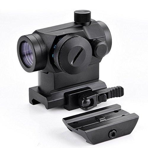 Vokul Tactical Mini Micro Reflex Red Dot Scope Sight with QD Quick Riser Mount