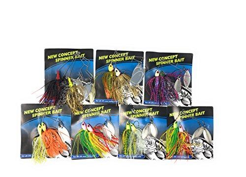 Best Hard Baits Spinnerbait Kit for Bass fishing Kit 4 Spinnerbait Kit A