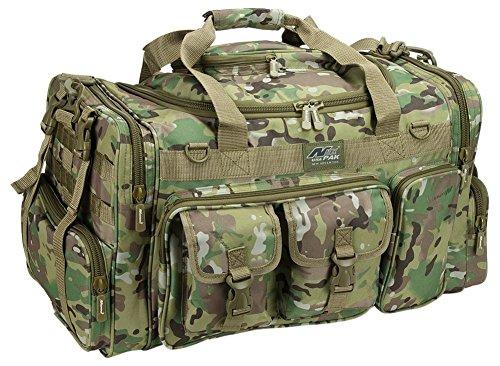 26 Tactical Duffle Military Molle Gear Shoulder Strap Range Bag TF126 MLT Multi Camo Green
