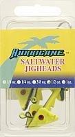 Hurricane Saltwater Jig Head 12-Ounce ChartreuseBlack