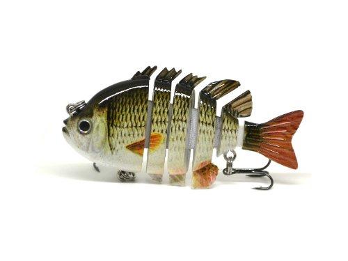 3 Crazy Panfish Series Multi Jointed Fishing Hard Lure Bait Swimbait Life-like A