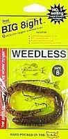 Ike-Con The Big 8ight Weedless Worm Fishing Lure 8-Inch Pumpkin Seed