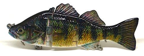 4 6 Fishing Swimbait Lure Life-like Perch Rainbow Crappie Bluegill Striper A 6 Inches