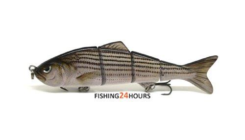 4 Multi Jointed Fishing Hard Bait Lure Life-like Minnow Bass Pike NEW E