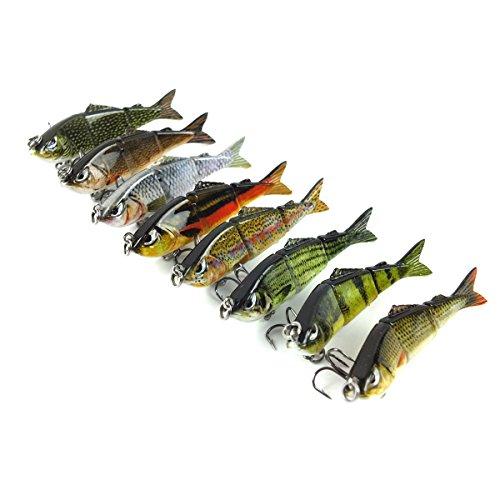 Aorace 1PcsLot 25 5g 12 Multi Jointed Fishing Lure 3 Segement Fishing Hard Bait Lure Life-Like Minnow Swimbait Pike New