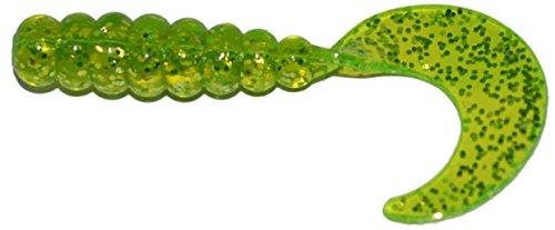 Big Bite Baits FG203 Fat Grub Fishing Bait Chartreuse Shine 2
