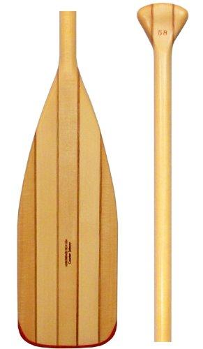 Adirondack No4 - Cherry and Basswood Kevlar Edge - Canoe Paddle 56 inches