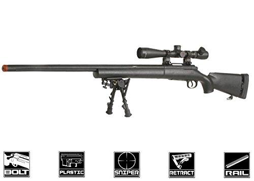 Echo 1 M28 Bolt Action Spring Sniper Rifle Airsoft Gun Black