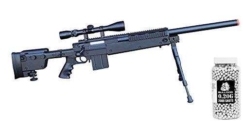 WELL MB4406 Airsoft Sniper Rifle High Powered Pro Rifle w Bipod Scope FREE 020g 2000 Bulldog Pellets Set
