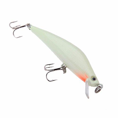 GOOTRADES 3D Luminous Night Bait Minnow Lure Hard Bait Fish Hook pack of 2
