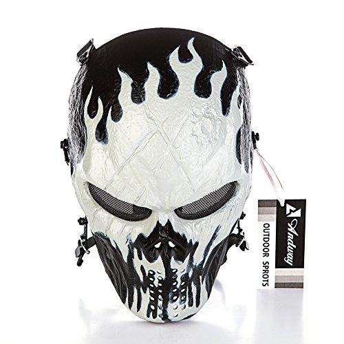 andway skull skeleton full face protective mask gear for airsoftbb gun cs game and partyAirsoft Gun