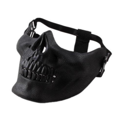 ASX Design Wargame CS Paintball Protective Gear Half Face Airsoft Mask Skull Black