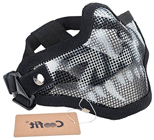 Mesh Half Face Skull Mask Striker Steel Airsoft Mask Tactical Lower Face mask