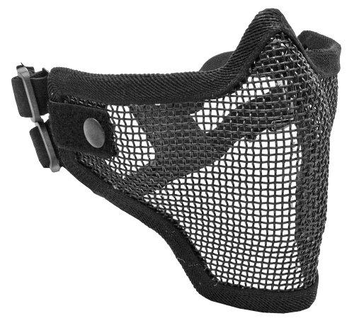 Tactical Crusader 2G Airsoft Strike Steel Half Mask Black