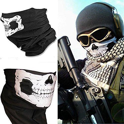 New Skull Half Face Biker Bandana Mask Bandanas Scarf by tans inc