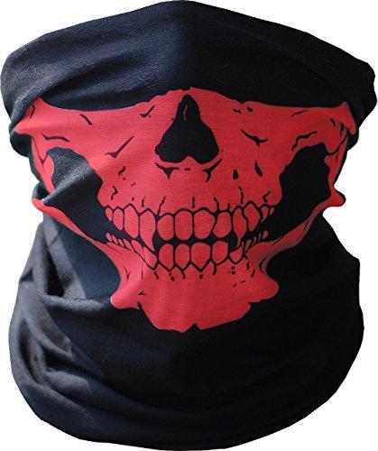 Red Skull Mask seamless skull face tube mask