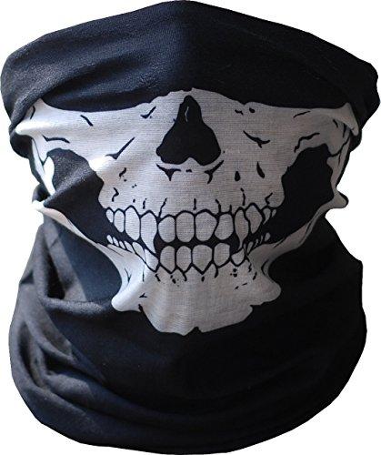 TOPFAST Skull Mask Bandana Headwear Scary Dust-Proof Windproof Motorcycle Half Face Mask