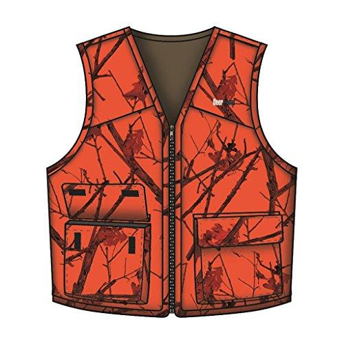 BrNameinternal BrNameinternal Deer Camp Vest Woodlot Blaze 3X-Large Blaze Camo