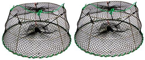 KUFA Stainless Steel Prawn Fishing Combo Includes TrapRopeFloatMarker BuoysBait JarBait Case 2 Pack 30 x 20 x 121-18CT76x2