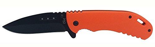 Assited Quick Opening G30 Hunters Orange Pocket Knife Thumb Stud Lock Blade Belt Clip