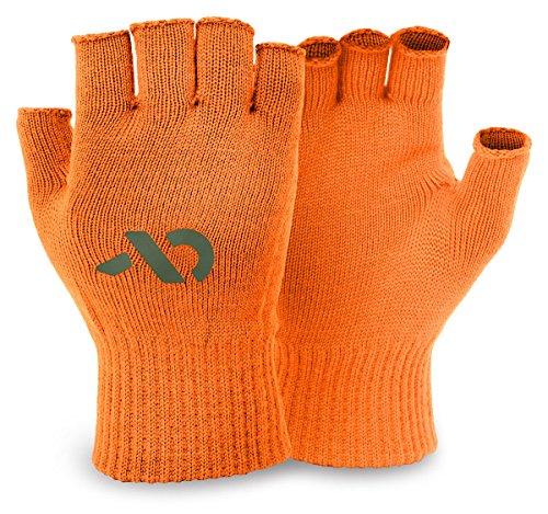 First Lite Talus Fingerless Merino Glove-Hunter Orange-Large