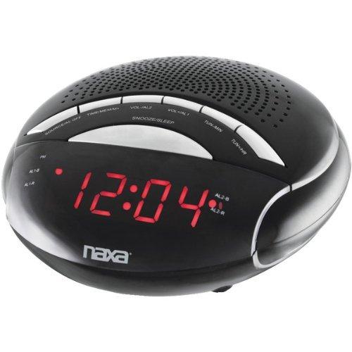 NAXA NRC170 Digital Alarm Clock with AMFM Radio