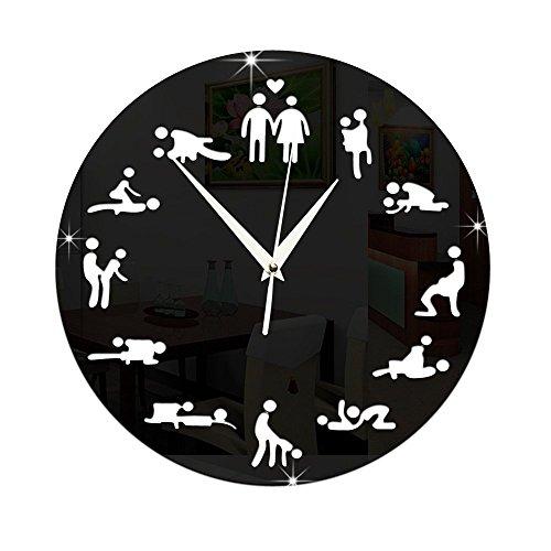 Sex wall clock 24hours Sex O Clock Sex Love Clock Sex Positions Wall Clock